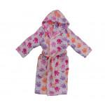 Детски хавлиен халат Лапички розово
