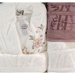 Премиум комплект халати за баня от 100% Бамбук Yonca Hidra