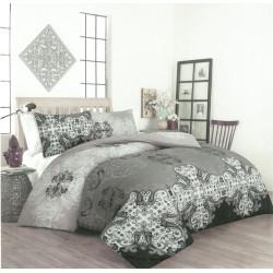 Спално бельо с олекотена завивка Лууп ранфорс