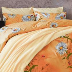 Спално бельо от 100% Памук Daisy Orange