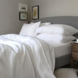 Хотелско спално бельо в бяло Ранфорс