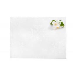 4 броя подложки за хранене в бяло с жакардова орнаментика