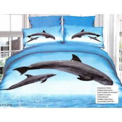 3D спално бельо Делфини 2