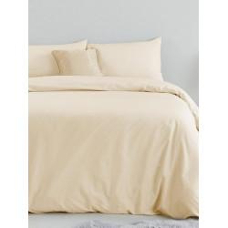 Практично спално бельо едноцветно Бежово