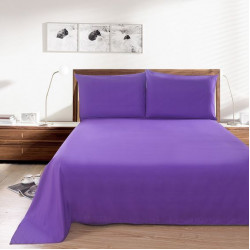 Практично спално бельо едноцветно Лилаво