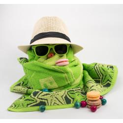Плажна кърпа 100% памук България зелено