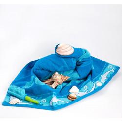 Плажна кърпа 100% памук България синьо