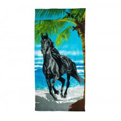 Плажна кърпа Черен Мустанг