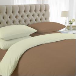 Спално бельо с олекотена завивка Бежово и Екрю