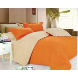 Спално бельо от микрофибър Бежово и Оранжево