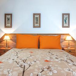 Спално бельо от фин памук Порто бежово