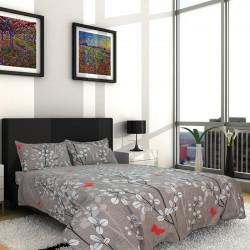 Спално бельо от фин памук Порто сиво
