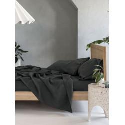 Спално бельо с чаршаф с ластик Черно