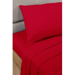 Спално бельо с чаршаф с ластик Червено