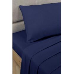 Спално бельо с чаршаф с ластик Тъмно синьо
