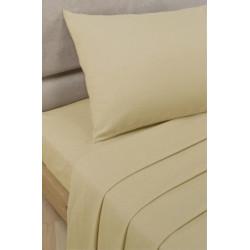 Спално бельо с чаршаф с ластик Бежово