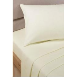 Спално бельо с чаршаф с ластик Екрю