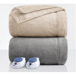 Тънко поларено одеяло Бежово или Сиво