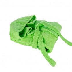 Халат с качулка унисекс Зелено