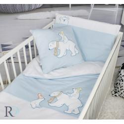 Бебешко спално бельо с чаршаф с ластик White Boo