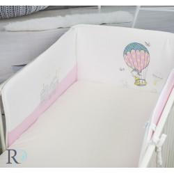 Обиколник за бебешка кошара Balloon pink