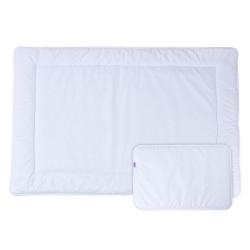 КОМПЛЕКТ завивка и възглавница за бебе органичен 100% памук