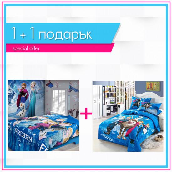 1+1 детско спално бельо Замръзналото кралство и шалте