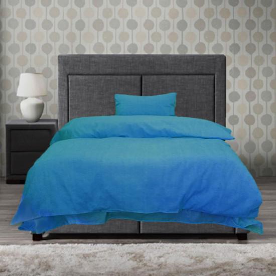 Спално бельо от 100% Памук синьо