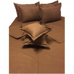 Колоритно спално бельо ранфорс Шоколад - Кафяво