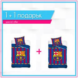 1+1 детско спално бельо от ранфорс Love Barcelona  - 2 броя