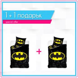 1+1 детско спално бельо от ранфорс Batman - 2 броя