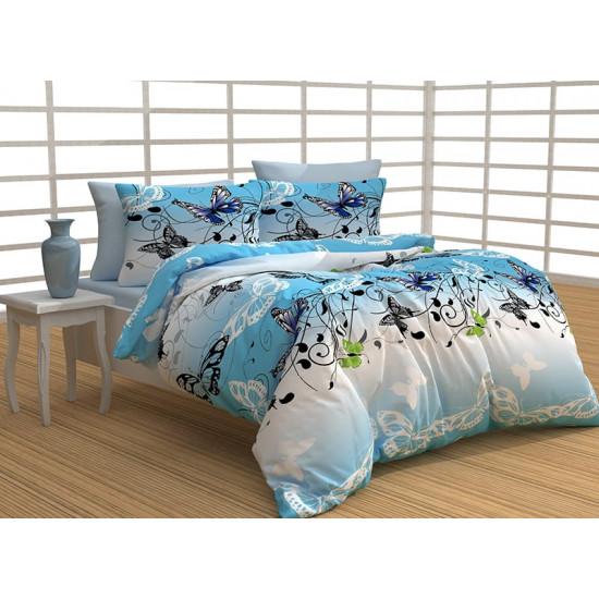Спално бельо 100% Памук Molina blue