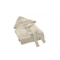 Луксозен халат от бамбук светло бежово
