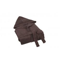 Луксозен халат от бамбук кафяво