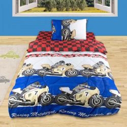 Детско спално бельо от ранфорс Мотописта