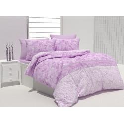 Спално бельо 100% Памук Бриен лилаво