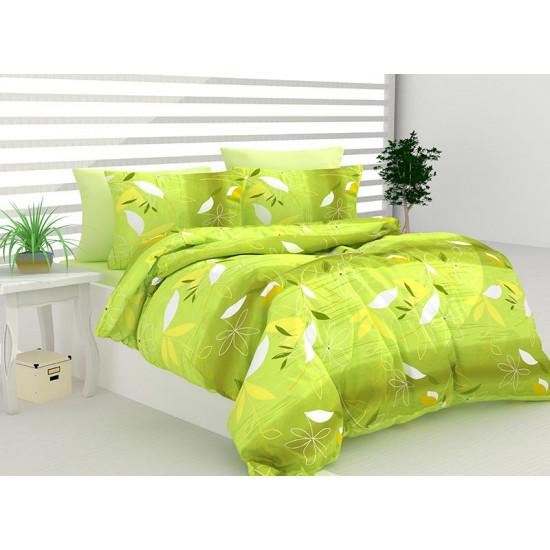 Спално бельо 100% Памук Андре зелено