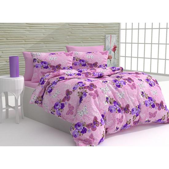 Спално бельо 100% Памук Сулмона розово