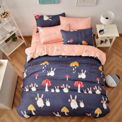 Дизайнерско спално бельо Зайче и Гъбка