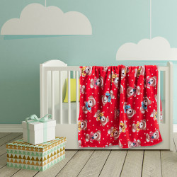 Бебешко одеяло Супер Мечо червено