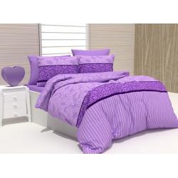 Спално бельо 100% Памук Rikko лила