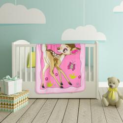 Висококачествено бебешко одеяло Сърничка розово