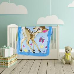 Висококачествено бебешко одеяло Сърничка синьо