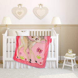Пухкаво бебешко одеяло сърничка Розово