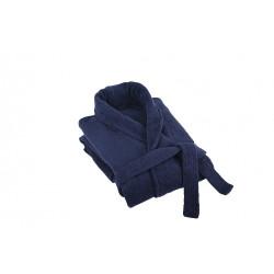 Луксозен халат за баня плюш Тъмно Синьо