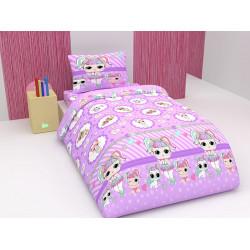 Детско спално бельо Кукла LoL лилаво