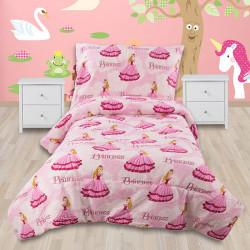 Детско спално бельо 100% памук Розови Принцеси