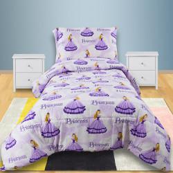 Детско спално бельо 100% памук Лилави Принцеси
