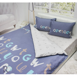 Авторитетно спално бельо памучен сатен Hello George
