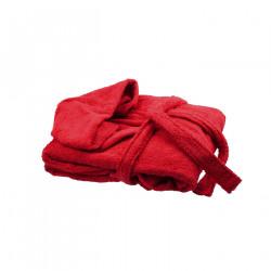 Халат с качулка унисекс Червено - Бордо
